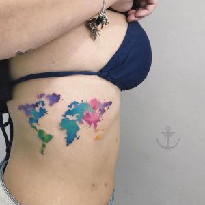 Mapa del mundo por Felipe Bernardes