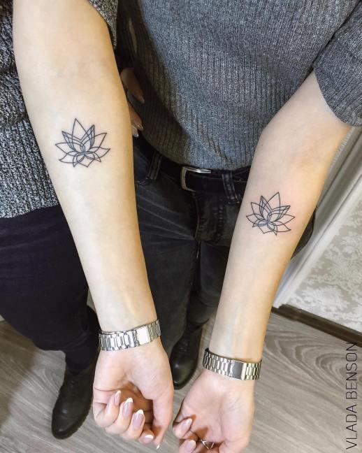 Flor de loto para amigas por Vlada Benson
