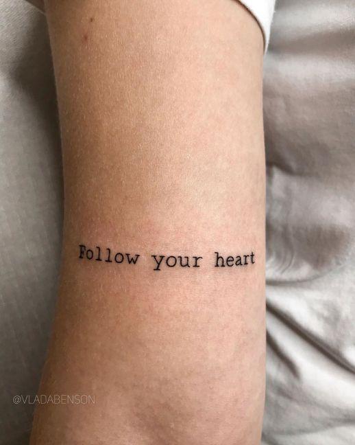Frase: Follow your heart por Vlada Benson