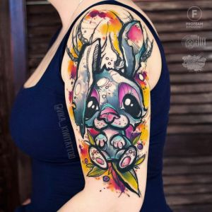 Conejo por Vika Kiwi Tattoo