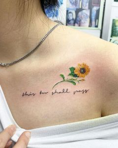 Frase: This too shall pass y girasol