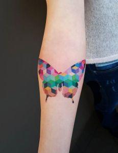 Mariposa formada con pixels