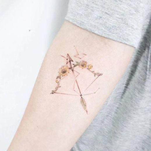 Sagitario representado con arco y flecha