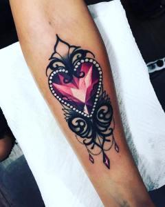 Diamante Corazón Rosa por Olie Siiz