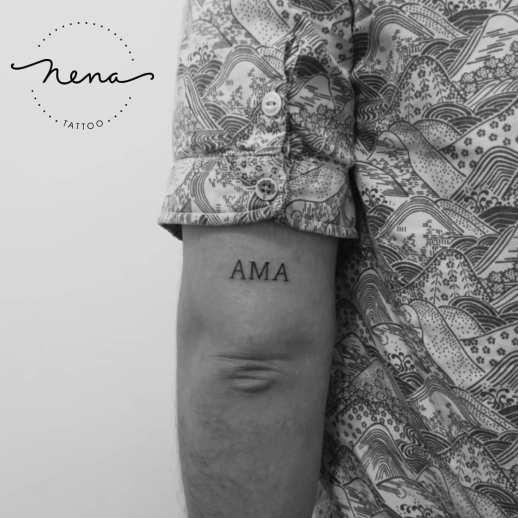 Frase: Ama por Nena Tattoo, Diana Opazo