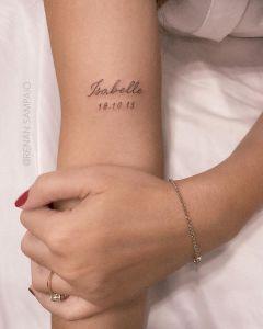 Nombre: Isabelle y fecha por Renan Sampaio