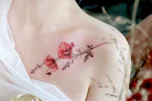 Flores de amapola por Tattooist Flower