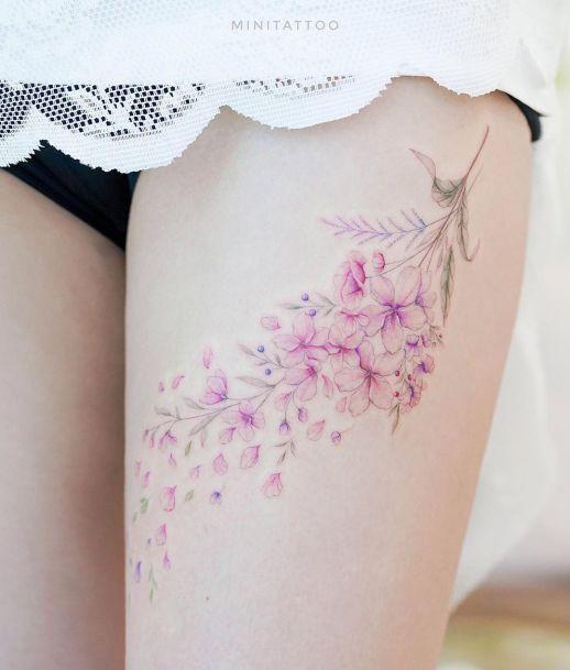 Flores de Cerezo por Mini Tattoo