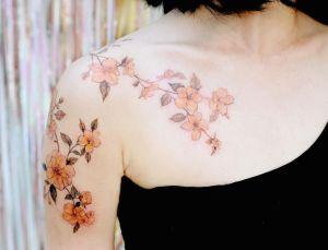Enredadera Flores amarillas por Tattooist Flower