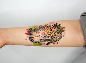 Gatos descansando por Hen Tattooer