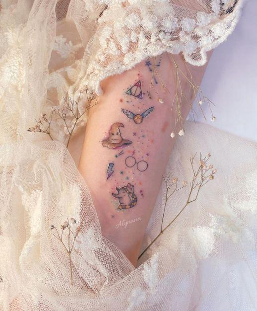 Harry Potter por Alynana Tattoos
