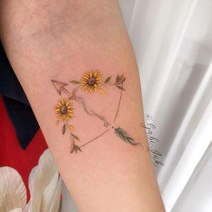 Flecha y arco de Girasoles por Gabi Ink