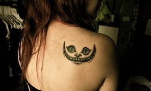 tattoo alice cat