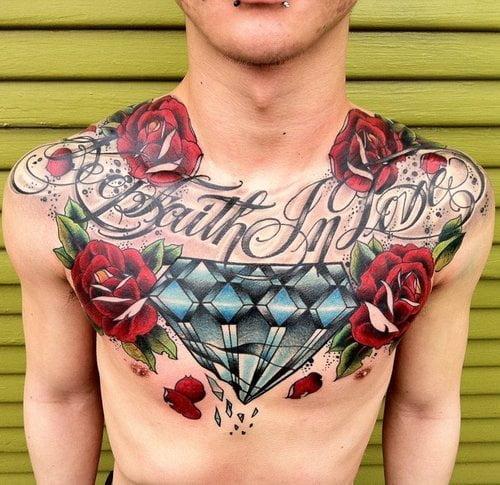 Tatuaje En El Pecho Faith In Love