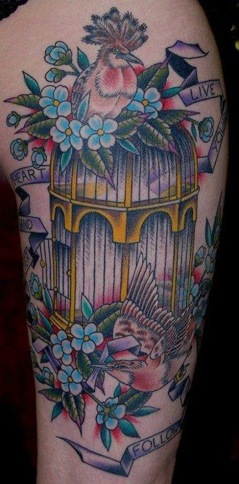 tatuaje pajaros