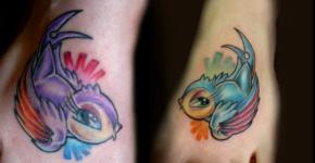 tatuaje pajaros lindos