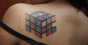 rubick cube tattoo