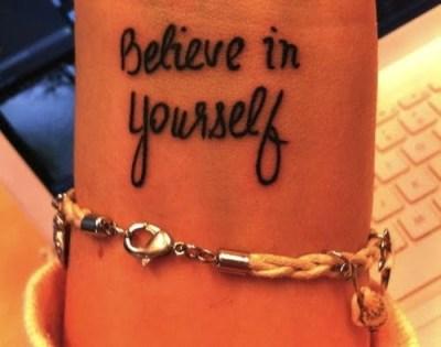 tatuaje believe in yourself