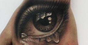 tatuaje ojo llorando