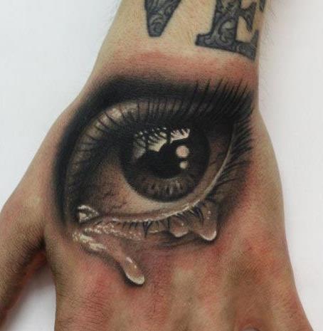 eye tattooed