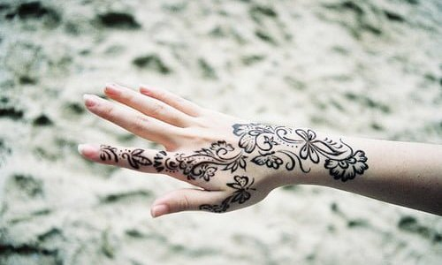 Tatuajes de henna hindus