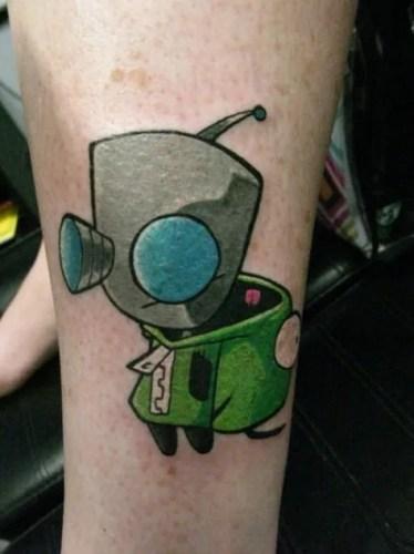 Tatuaje Invader Zim