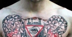 Elephant tattoo chest