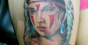 Mononoke princess tattoo