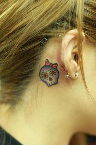 Tatuaje calavera de azúcar