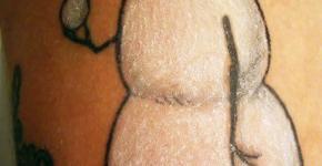 Snowman Tattoo Calvin