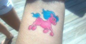pink pony tattoo