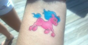 pink pony tattoo