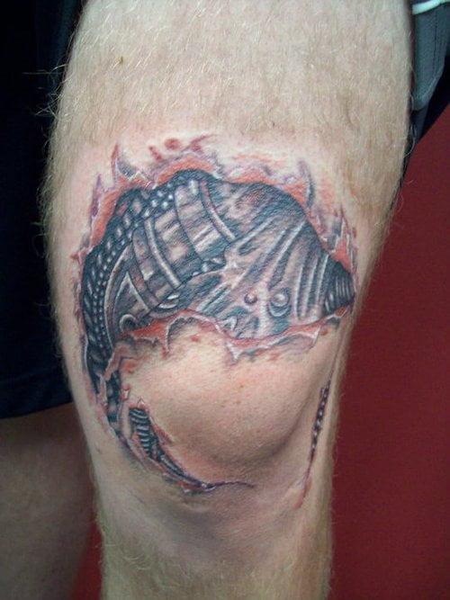 Tatuaje Rodilla Cyborg