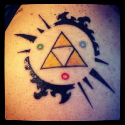 Triforce color tattoo
