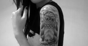 Owl tattoo for girl