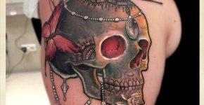 Black Skull tattoo