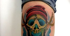 pirate tattoo skull