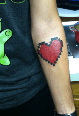 Gamer's Hear tattoo