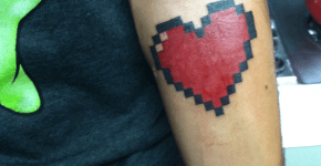 Gamer's Hear tattoo