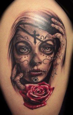 Tatuajes día de muertos