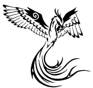 phoenix tribal tattoo design