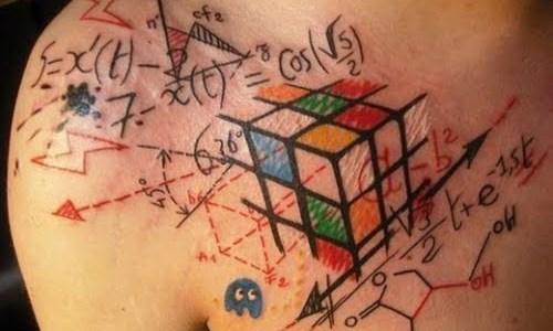 Rubick's cube tattoo