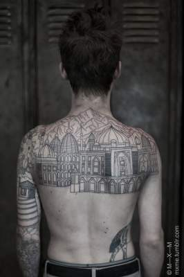 Large tattoos on the back