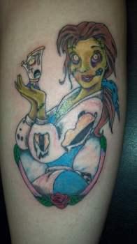 Zombie Disney princess tattoo