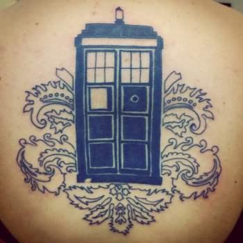 Tardis tattoo Doctor Who