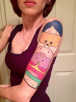 Adventure time tattoo on arm