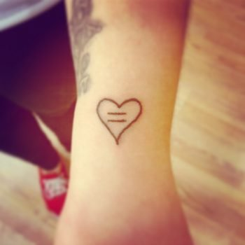 Heart and love tattoos