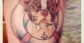 Dog tattoo funny