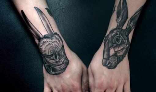 Hand tattoos by peter aurisch