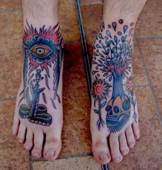 Feet tattoos El Monga Sasturain